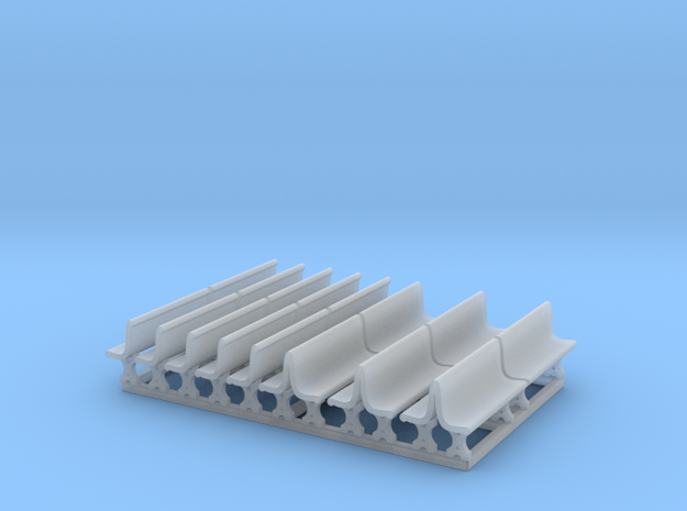 Cement Benches, HO Scale, 10 + 6 doubles 3d printed