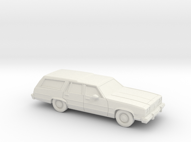 1/87 1977 Oldsmobile Delta 88 Station Wagon in White Strong & Flexible