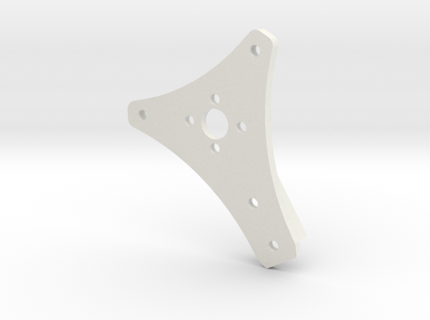 "Coaxial Motor Mount, 1/2"" Sq Tube, Pancake Motors in White Natural Versatile Plastic"