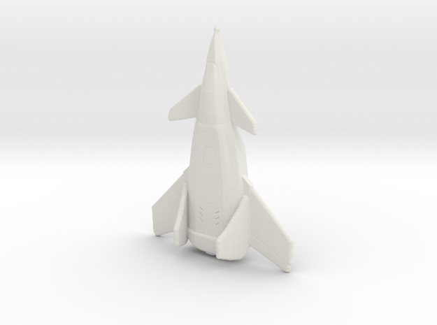 Crow Jet Fighter in White Strong & Flexible: Small