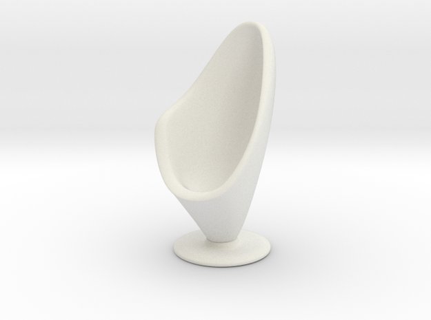 1/32 Girl sitting Chair Part of Chair 005-008 in White Natural Versatile Plastic