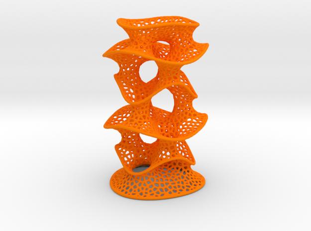 Protonik Decor Vase in Orange Processed Versatile Plastic