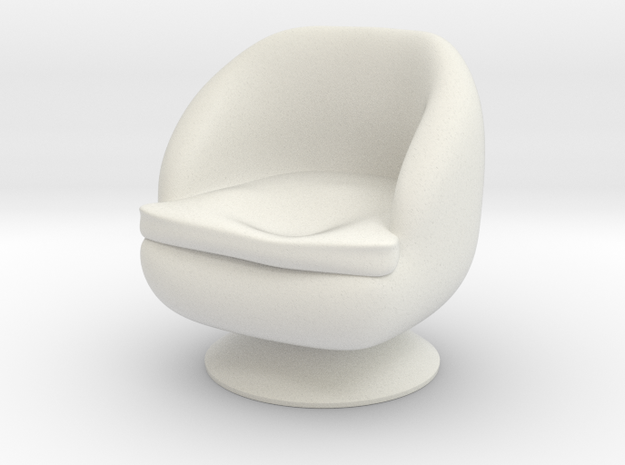 1/32 Girl sitting Chair Part of Chair 013 in White Natural Versatile Plastic
