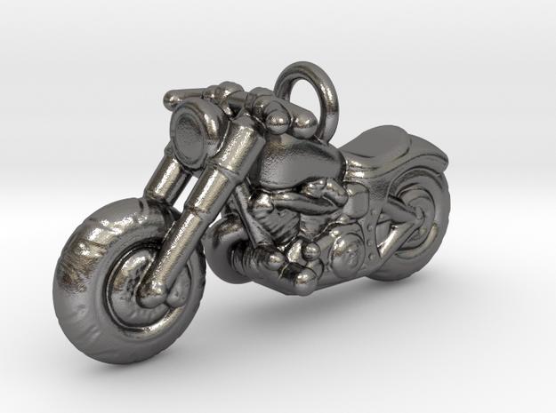 Harley Davidson Pendant in Polished Nickel Steel