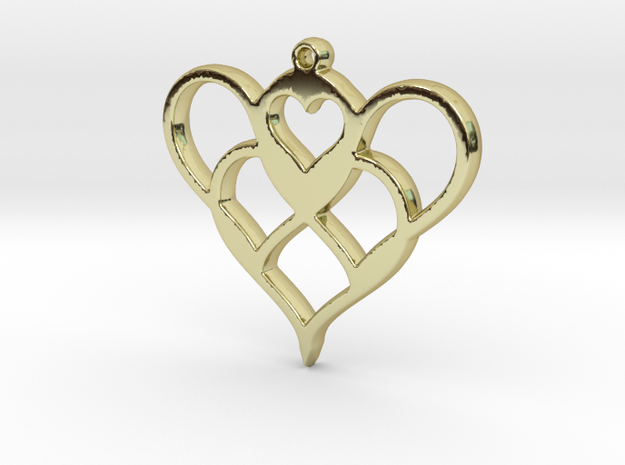 heartheart in 18k Gold Plated Brass
