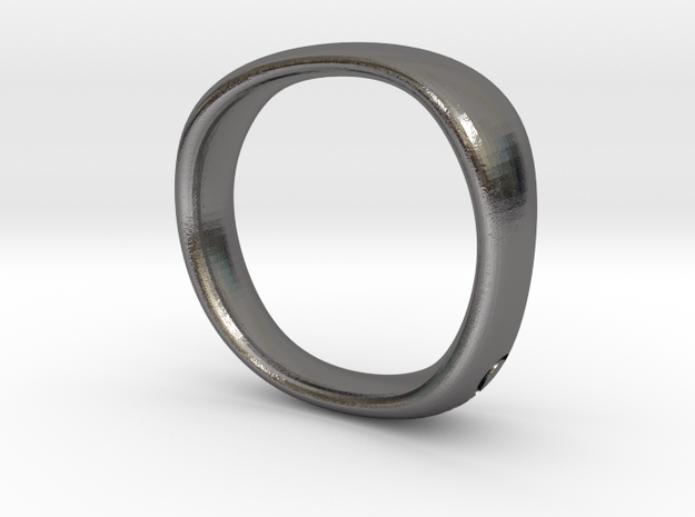 Cymatic Ring US Size 7½ UK Size P in Polished Nickel Steel