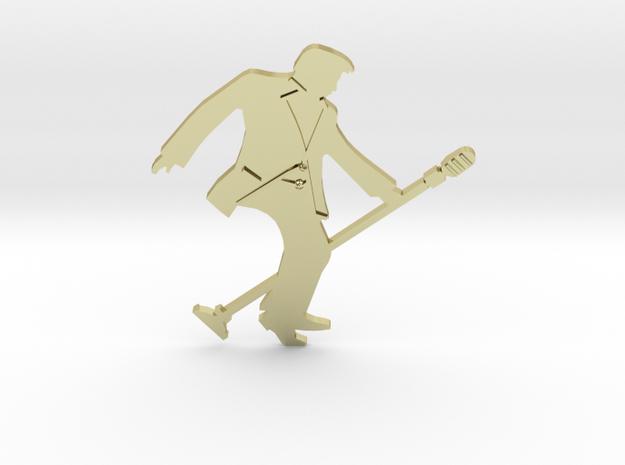 RockStar Rockin' - Pendant in 18k Gold Plated Brass