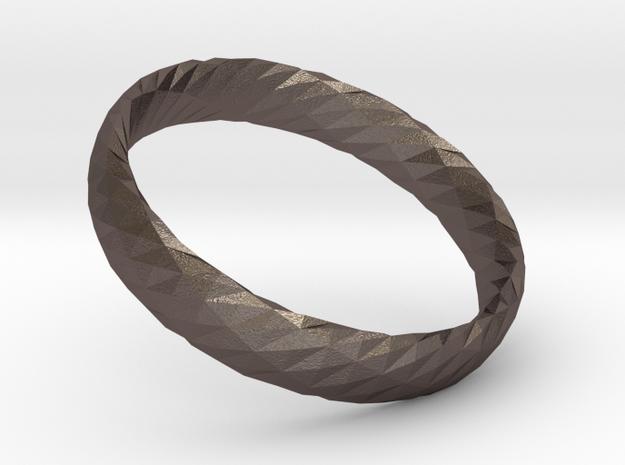 Twistium - Bracelet P=170mm h15 in Polished Bronzed Silver Steel