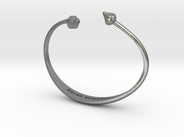 Purløg-Chives Bracelet 55x40 in Raw Silver