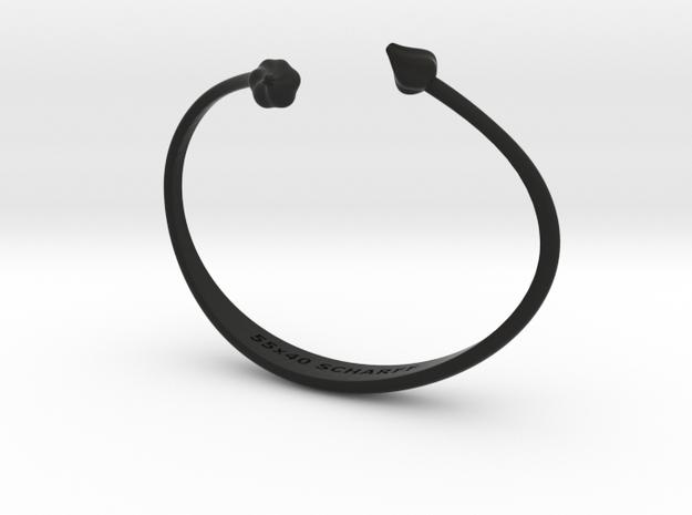 Purløg-Chives Bracelet 55x40 in Black Natural Versatile Plastic