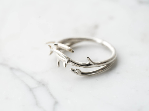 Thorn Ring in Polished Silver: 5 / 49