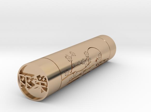 Eva Japanese name stamp hanko 14mm in 14k Rose Gold