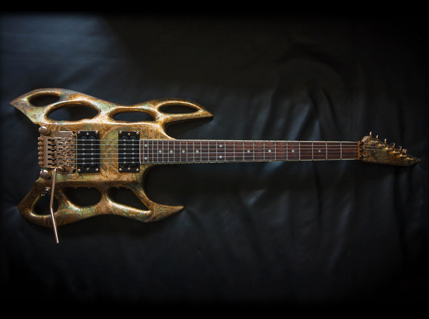 Bodydown 3d printed Andromeda X  guitar body