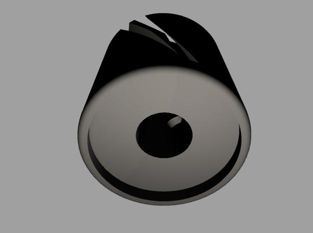 Knob Spiral large 3d printed