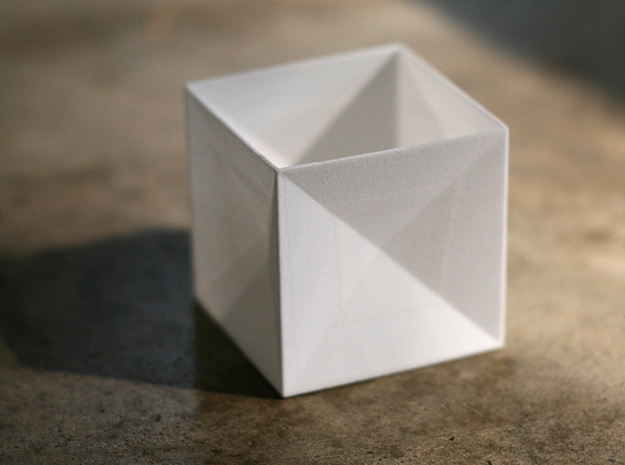 Tessellating Boxes 3d printed One White Strong & Flexible box.