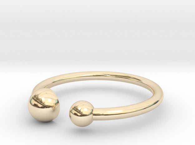 Double Dot ring size 5 in 14K Yellow Gold