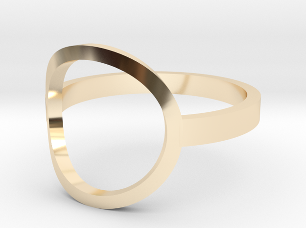 Circle Ring Size 5 in 14K Yellow Gold