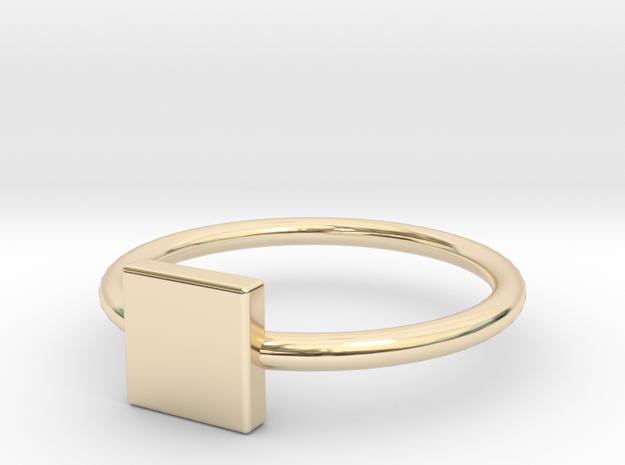 Square Ring Size 6 in 14K Gold