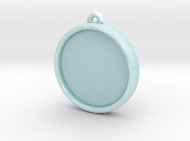 Celadon Selfie Round Ornament