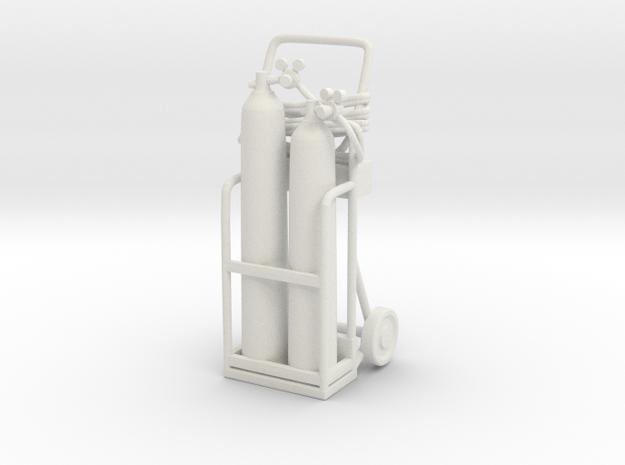 Oxy Acetylene Welder 01. 1:24 Scale in White Strong & Flexible