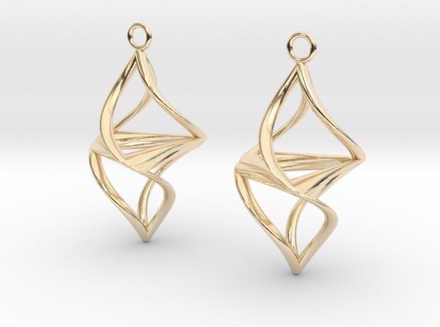 Twister earrings in 14k Gold Plated Brass