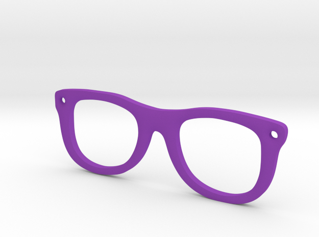 Glasses in Purple Processed Versatile Plastic