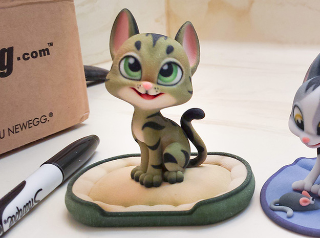 Happy Cat (3.3in with Base)