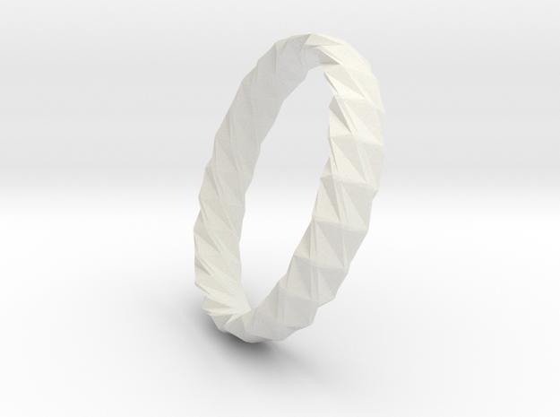 Twistium - Bracelet P=200mm h15 Alpha in White Natural Versatile Plastic