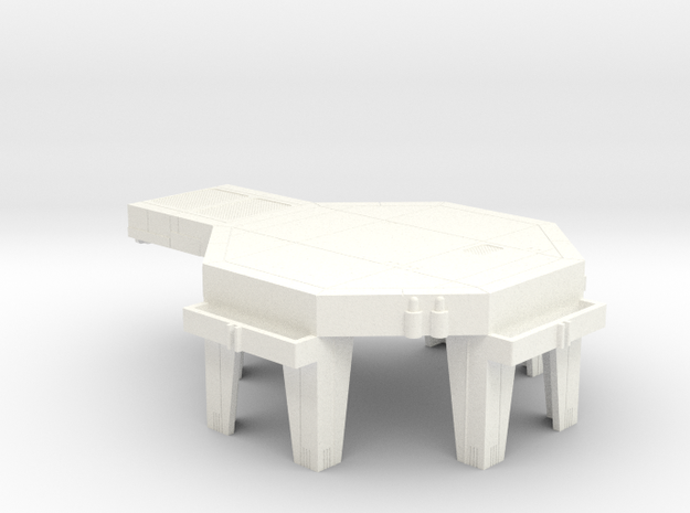 Starcom Starbase Landing Pad Connector in White Processed Versatile Plastic