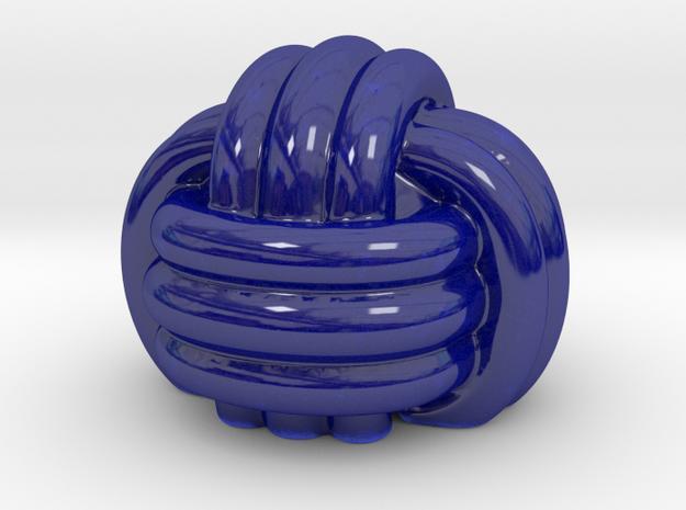 Knot Porcelain smoothed in Gloss Cobalt Blue Porcelain