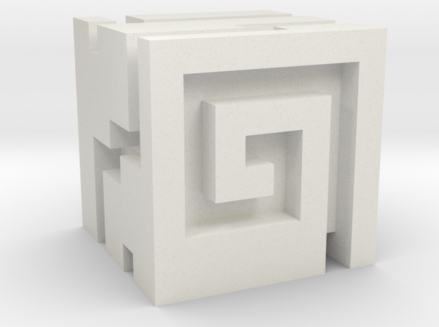 Nuva Cube in White Natural Versatile Plastic