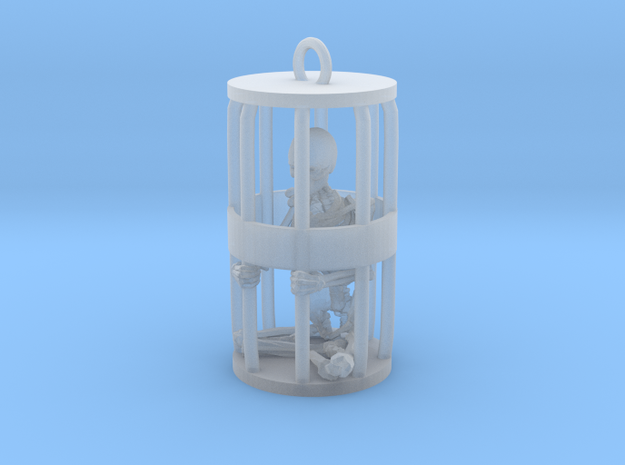 Skeleton in Gibbet in Smooth Fine Detail Plastic