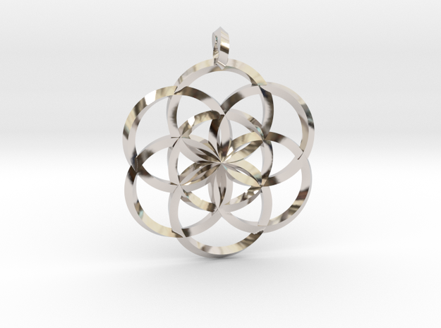 Seed Of Life in Rhodium Plated