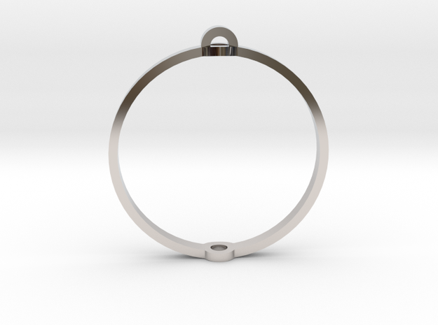 "World 1.25"" (Ring) in Rhodium Plated Brass"
