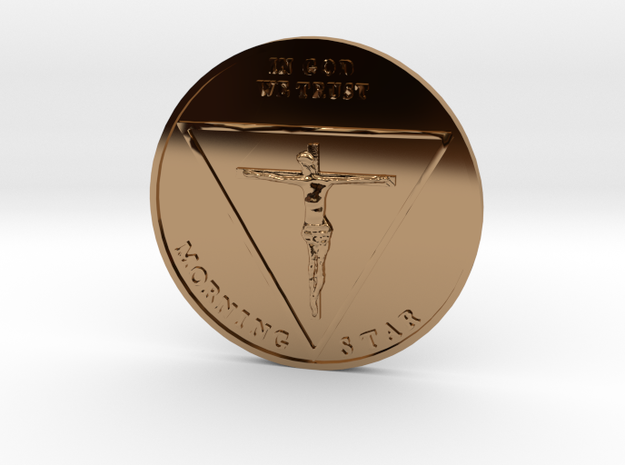 Lucy Coin in Polished Brass