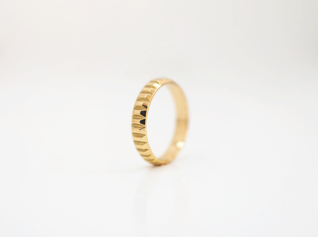 Gold Bars Ring | 3 sizes  in 18k Gold Plated Brass: 6 / 51.5