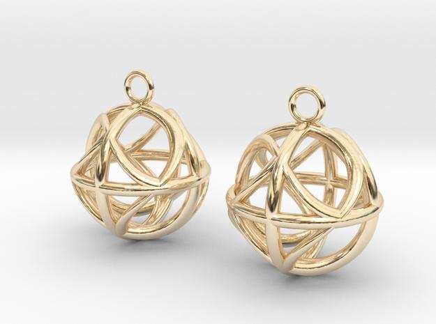 Ball earrings in 14k Gold Plated Brass
