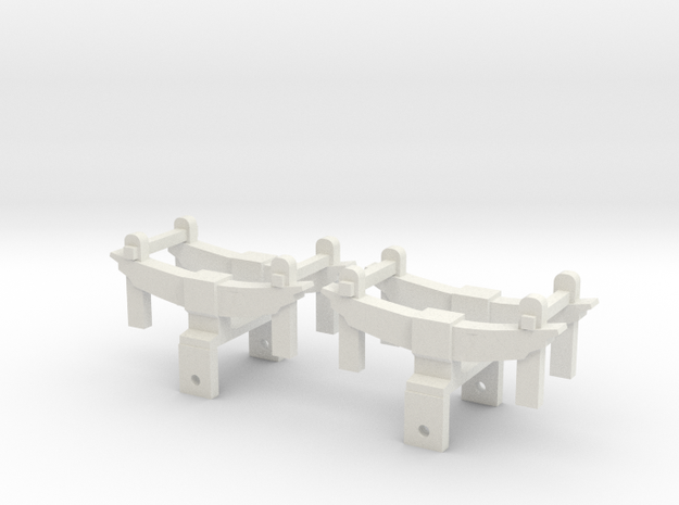 1:20 scale Leaf Springs for 0-4-0 Baldwin in White Natural Versatile Plastic