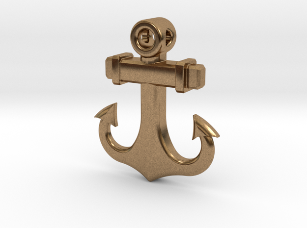 Anchor Pendant (1.6 Inches, No Text) 3d printed Shown in Metallic Plastic with Text