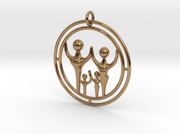 Family 4 Double 35mm in Polished Brass