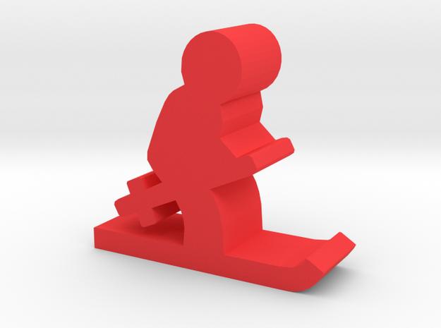 Game Piece, Skier in Red Processed Versatile Plastic