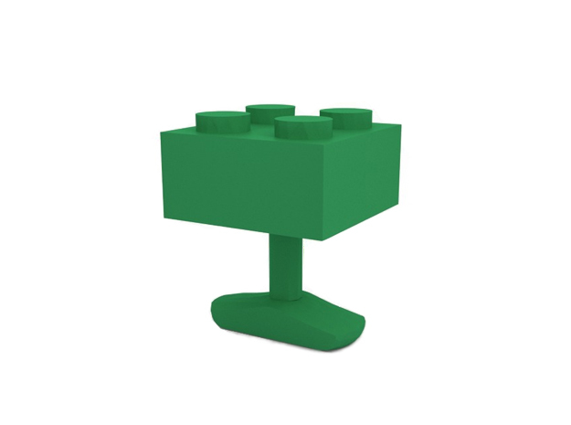 Cufflink in Green Strong & Flexible Polished
