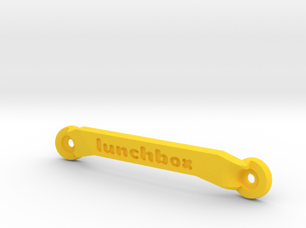 CW01 Chassis Brace - Front - Lunchbox in Yellow Processed Versatile Plastic