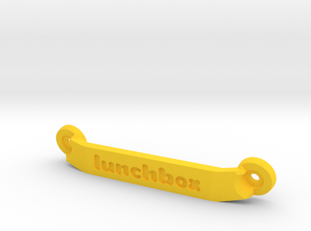 CW01 Chassis Brace - Rear - Lunchbox in Yellow Strong & Flexible Polished