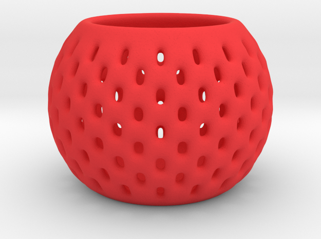 DRAW bowls - segmented in Red Processed Versatile Plastic: Small