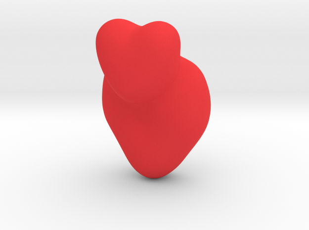 Cleromancy Token - Love/Romance/Relationships in Red Strong & Flexible Polished
