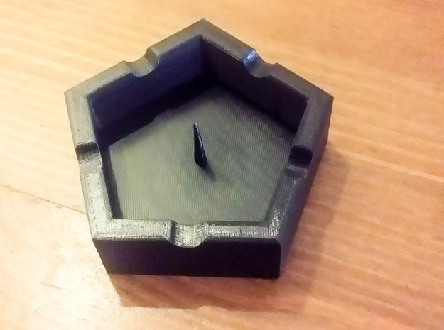 Weed Ash Tray with Bowl Tool (Pipe De-Bowler) in Black Strong & Flexible