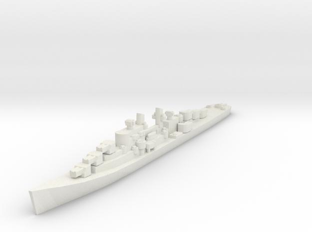 USN Atlanta class cruiser CLAA 1/2400 in White Strong & Flexible