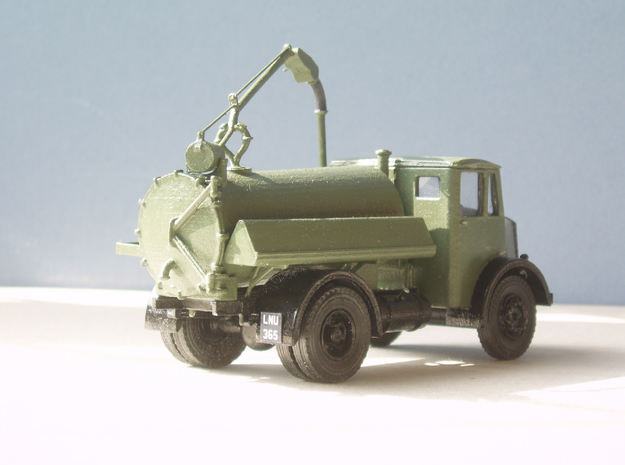 1:43 Dennis Pax Cab & Gully Emptier Chassis 1940s in White Processed Versatile Plastic