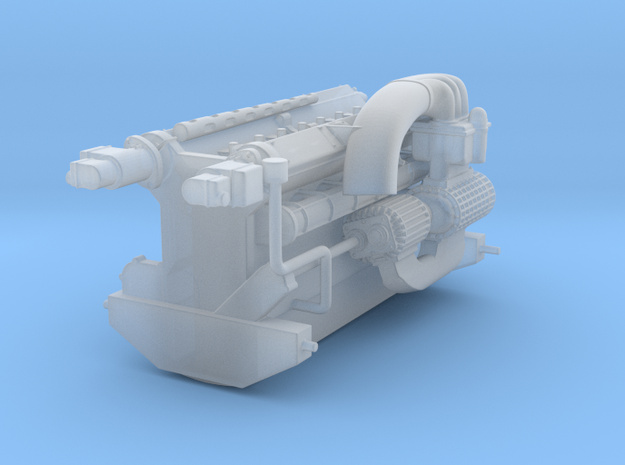 Alfa 158 Engine, 1/24 scale in Smooth Fine Detail Plastic